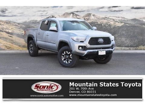 Silver Sky Metallic Toyota Tacoma TRD Off-Road Double Cab 4x4.  Click to enlarge.