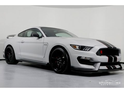 Avalanche Gray Ford Mustang Shelby GT350R Coupe.  Click to enlarge.