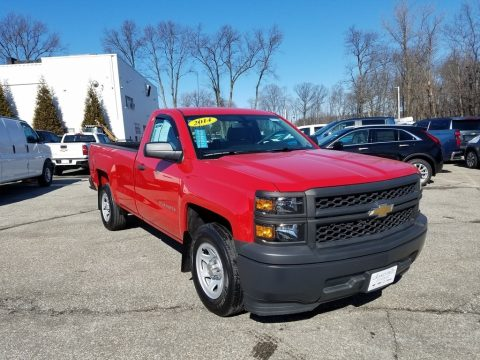 Victory Red Chevrolet Silverado 1500 WT Regular Cab.  Click to enlarge.