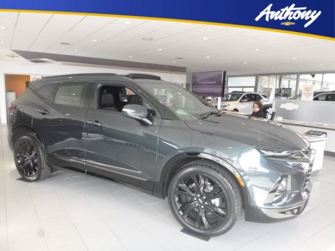 Graphite Metallic Chevrolet Blazer RS AWD.  Click to enlarge.