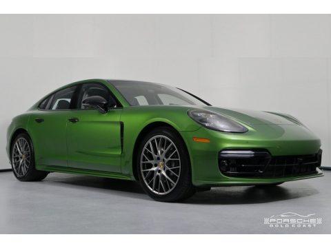 Mamba Green Metallic Porsche Panamera 4S.  Click to enlarge.