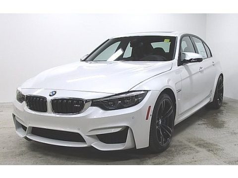 Mineral White Metallic BMW M3 Sedan.  Click to enlarge.