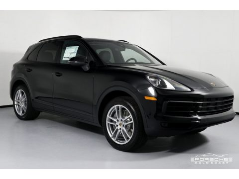Black Porsche Cayenne S.  Click to enlarge.