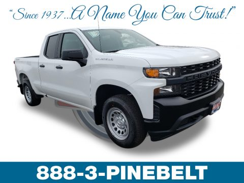 Summit White Chevrolet Silverado 1500 WT Double Cab 4WD.  Click to enlarge.