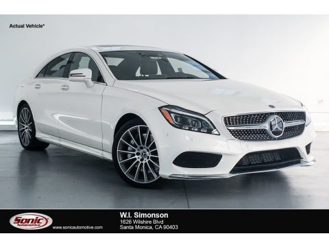 designo Diamond White Metallic Mercedes-Benz CLS 550 Coupe.  Click to enlarge.