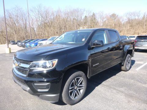 Black Chevrolet Colorado WT Crew Cab 4x4.  Click to enlarge.