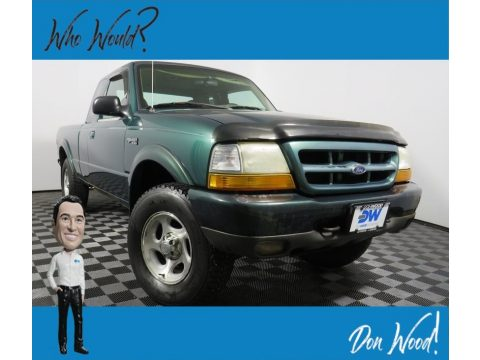 Amazon Green Metallic Ford Ranger XLT SuperCab 4x4.  Click to enlarge.
