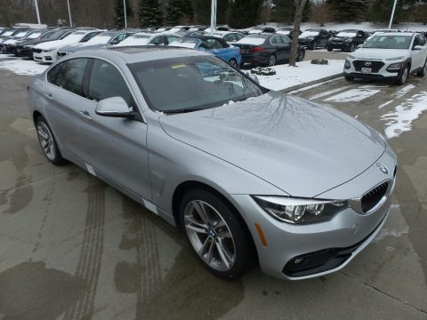 Glacier Silver Metallic BMW 4 Series 430i xDrive Gran Coupe.  Click to enlarge.