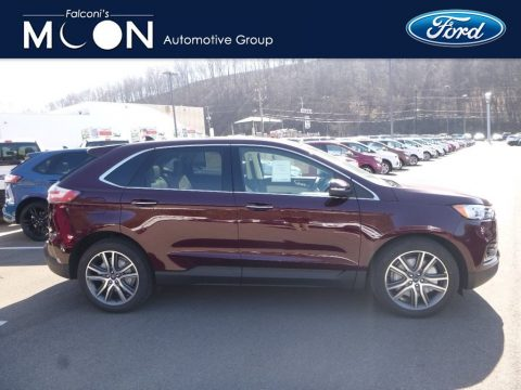 Ruby Red Ford Edge Titanium AWD.  Click to enlarge.