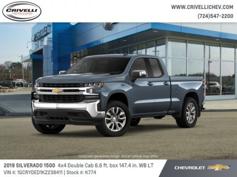 Shadow Gray Metallic Chevrolet Silverado 1500 LT Double Cab 4WD.  Click to enlarge.