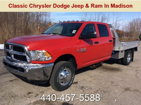 Flame Red Ram 3500 Tradesman Crew Cab 4x4 Chassis.  Click to enlarge.