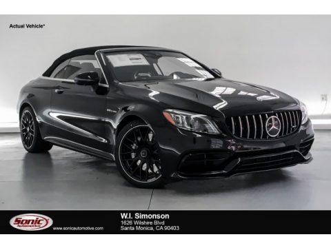 Obsidian Black Metallic Mercedes-Benz C AMG 63 Cabriolet.  Click to enlarge.