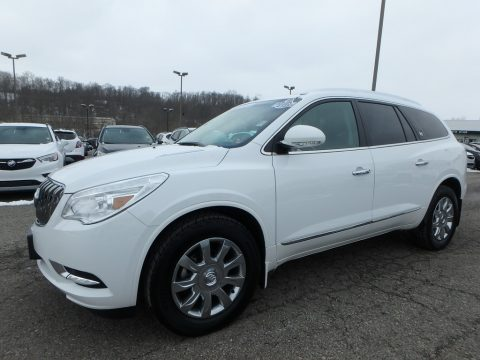 Summit White Buick Enclave Leather AWD.  Click to enlarge.