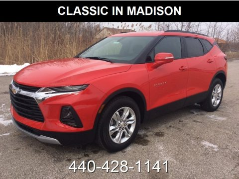 Red Hot Chevrolet Blazer 3.6L Leather AWD.  Click to enlarge.