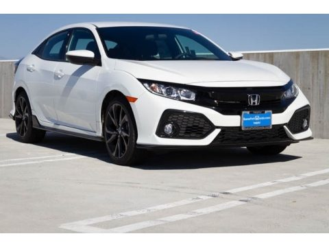 White Orchid Pearl Honda Civic Sport Hatchback.  Click to enlarge.