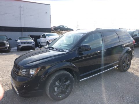 Pitch Black Dodge Journey Crossroad AWD.  Click to enlarge.