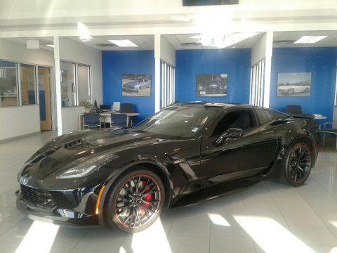Black Chevrolet Corvette Z06 Coupe.  Click to enlarge.