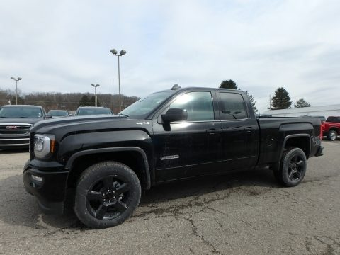 Onyx Black GMC Sierra 1500 Limited Elevation Double Cab 4WD.  Click to enlarge.