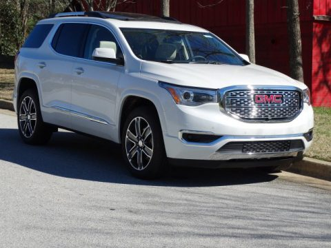 White Frost Tricoat GMC Acadia Denali.  Click to enlarge.