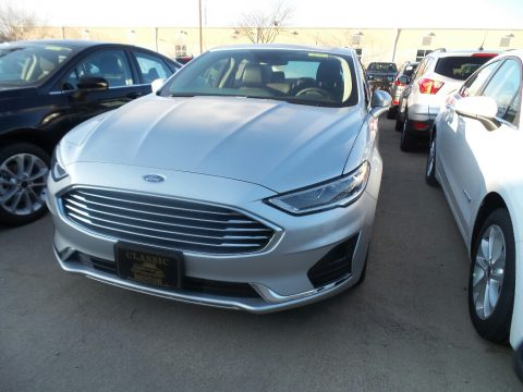 Ingot Silver Ford Fusion Hybrid SEL.  Click to enlarge.