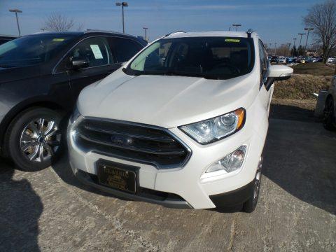 White Platinum Metallic Ford EcoSport Titanium 4WD.  Click to enlarge.
