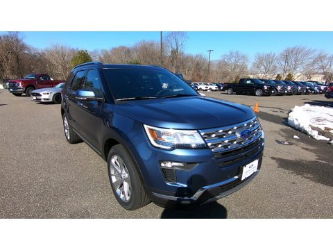 Blue Metallic Ford Explorer Limited 4WD.  Click to enlarge.