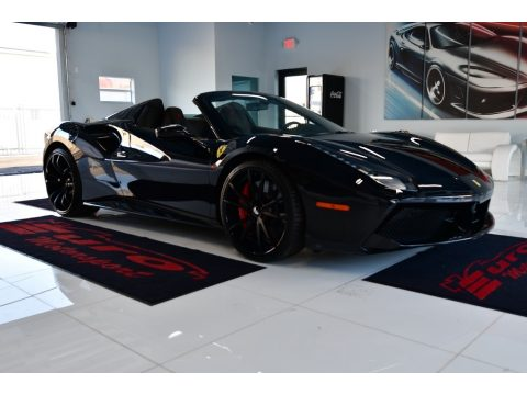 Nero Daytona Metallic Ferrari 488 Spider .  Click to enlarge.