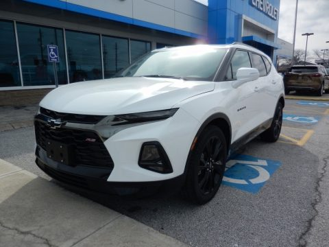 Summit White Chevrolet Blazer RS AWD.  Click to enlarge.