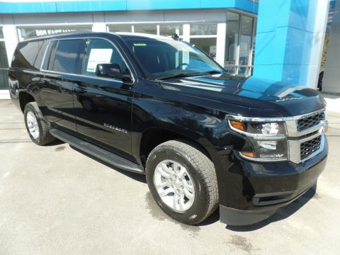 Black Chevrolet Suburban LS 4WD.  Click to enlarge.