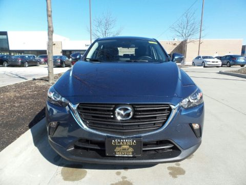 Eternal Blue Mica Mazda CX-3 Sport AWD.  Click to enlarge.