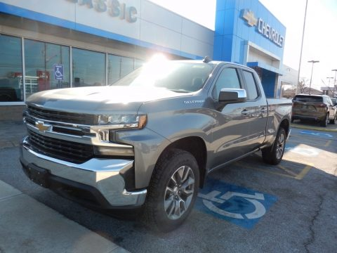 Satin Steel Metallic Chevrolet Silverado 1500 LT Double Cab 4WD.  Click to enlarge.