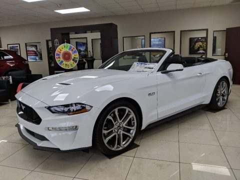 Oxford White Ford Mustang GT Premium Convertible.  Click to enlarge.