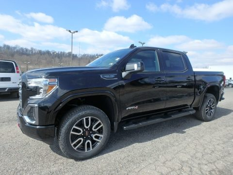 Onyx Black GMC Sierra 1500 AT4 Crew Cab 4WD.  Click to enlarge.
