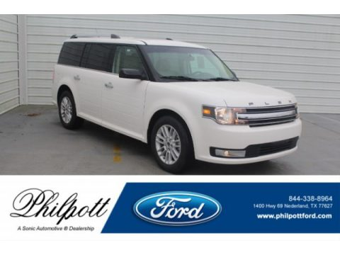 White Platinum Ford Flex SEL.  Click to enlarge.