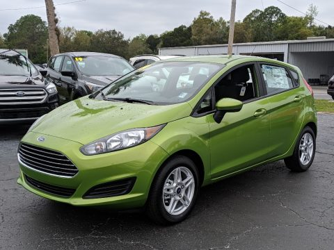 Outrageous Green Ford Fiesta SE Hatchback.  Click to enlarge.