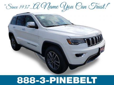 Bright White Jeep Grand Cherokee Limited 4x4.  Click to enlarge.