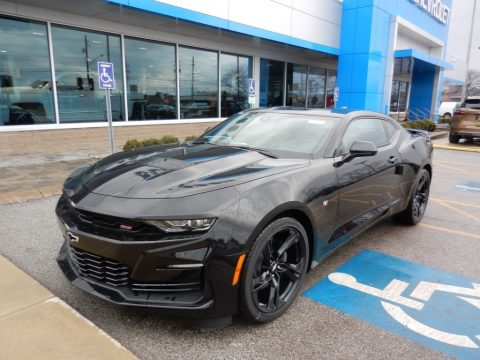 Mosaic Black Metallic Chevrolet Camaro SS Coupe.  Click to enlarge.