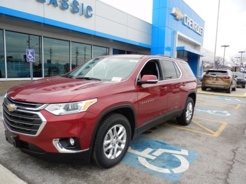Cajun Red Tintcoat Chevrolet Traverse LT.  Click to enlarge.
