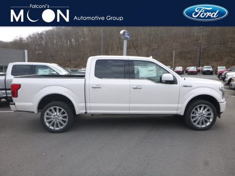 White Platinum Ford F150 Limited SuperCrew 4x4.  Click to enlarge.