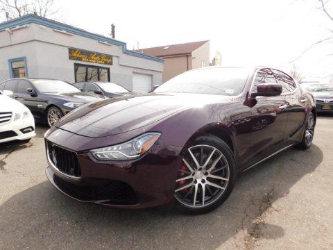 Rosso Folgore (Dark Red) Maserati Ghibli S Q4.  Click to enlarge.