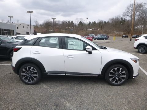 Snowflake White Pearl Mica Mazda CX-3 Grand Touring AWD.  Click to enlarge.