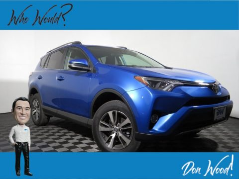 Electric Storm Blue Toyota RAV4 XLE AWD.  Click to enlarge.