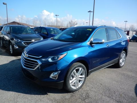 Pacific Blue Metallic Chevrolet Equinox Premier AWD.  Click to enlarge.