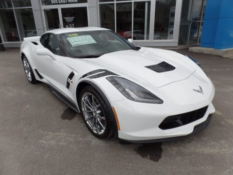 Arctic White Chevrolet Corvette Grand Sport Coupe.  Click to enlarge.