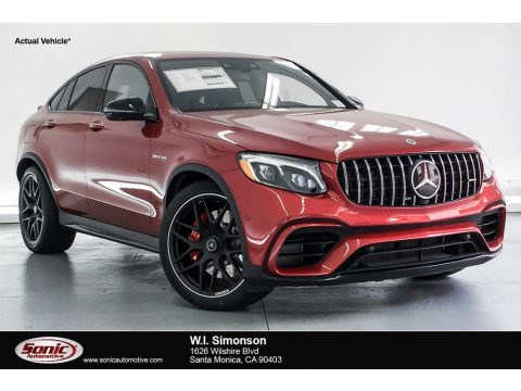 designo Cardinal Red Metallic Mercedes-Benz GLC AMG 63 S 4Matic Coupe.  Click to enlarge.