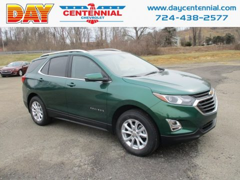 Ivy Green Metallic Chevrolet Equinox LT AWD.  Click to enlarge.