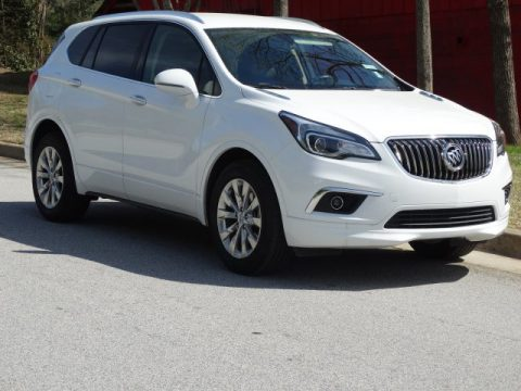 Summit White Buick Envision Essence AWD.  Click to enlarge.