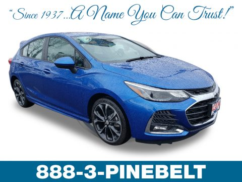 Kinetic Blue Metallic Chevrolet Cruze Premier Hatchback.  Click to enlarge.