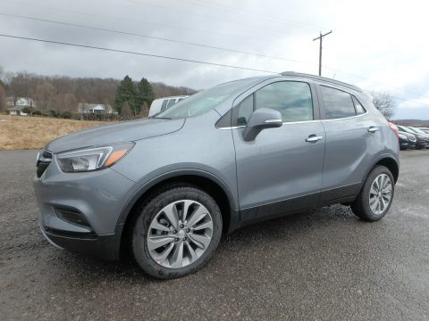 Satin Steel Metallic Buick Encore Preferred AWD.  Click to enlarge.