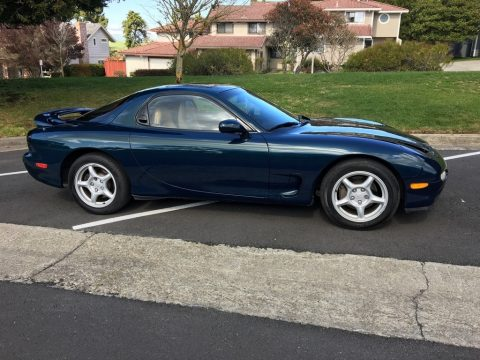 Montego Blue Mica Mazda RX-7 Twin Turbo.  Click to enlarge.